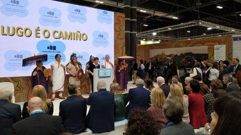 Lugo, durante una presentación en Fitur