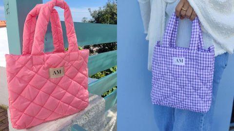 Dos de los bolsos de AM Store de su colección de primavera