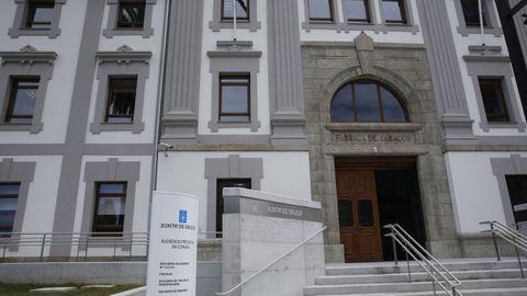 Edificio de la Audiencia Provincial de A Coruña, en Tabacalera