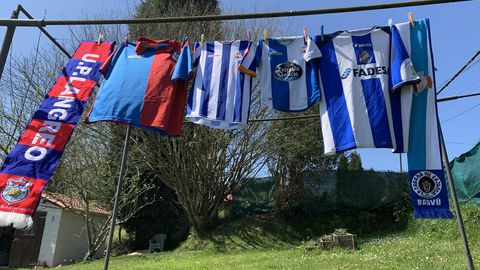 Las equipaciones, listas para el partido del domingo