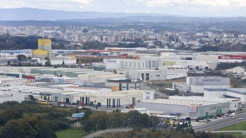 Vista del polígono industrial de O Ceao