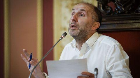 Gonzalo Pérez Jácome en una rueda de prensa