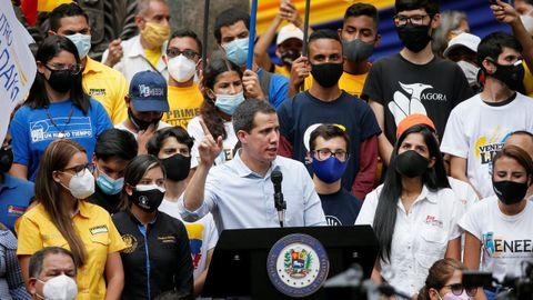 Juan Guaidó, durante un acto en Caracas