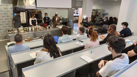 Un momento de la apertura de las Aulas Gastronómicas de Galicia Calidade