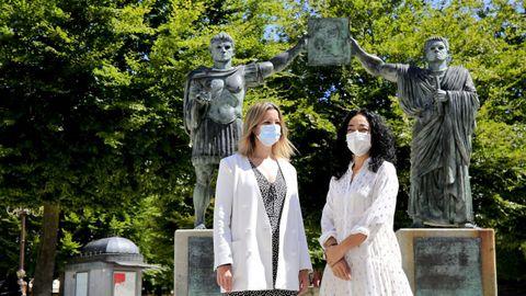 Lara Méndez y Ana Abelleira, en una imagen de archivo