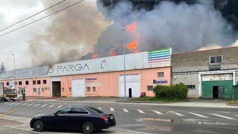 En la empresa de pinturas Castro Parga fue donde se origió el fuego