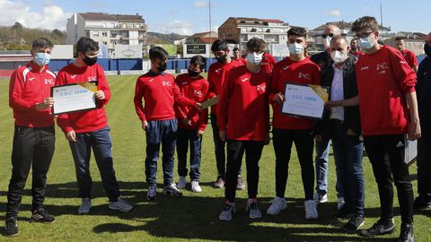 Equipos de la base del Verín CF recibieron diplomas de la Federación Galega