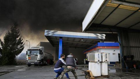 La gasolinera de la rúa dos Canteiros fue vaciada por seguridad
