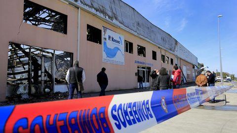 Exterior de la tienda-almacén de Castro Parga donde se originó el incendio