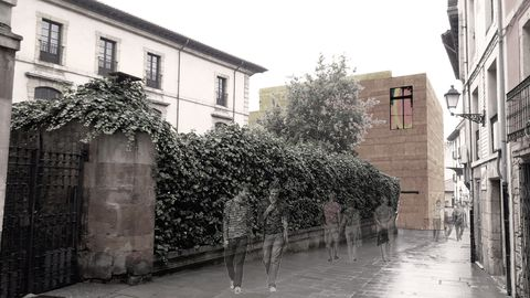 Fachada del futuro Centro Cultural Santa Ana