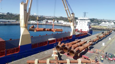 El barco BBC Belem fue el encargado del transporte de las piezas