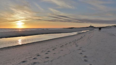 Playa de Lariño, en Carnota