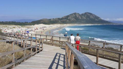 Playa de Area Maior de Louro, en Muros