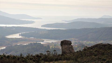 Mirador del monte do Castelo, en Outes