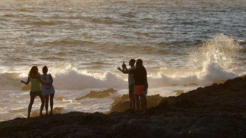 Las playas de Porto do Son, como la de As Furnas, tienen mucho tirón en las redes sociales