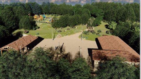 Parque Central de Galicia: zona de ocio