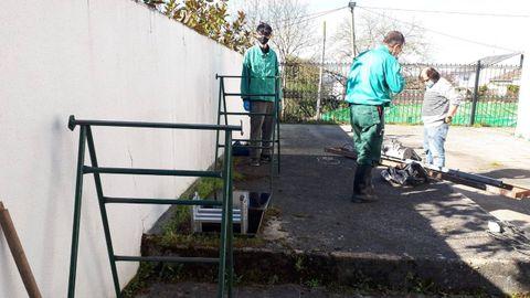 Trabajos previos de limpieza llevados a cabo para acceder a la cloaca romana