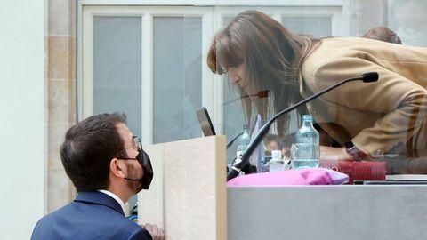 Pere Aragonès y Laura Borràs, en una imagen de archivo