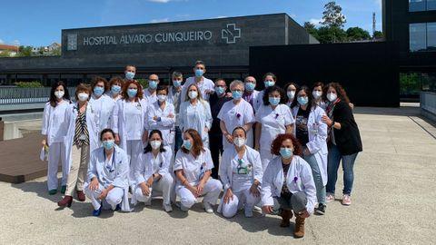 El equipo de hematología del Chuvi