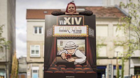 Aurora López ha diseñado el cartel del FIC de Verín
