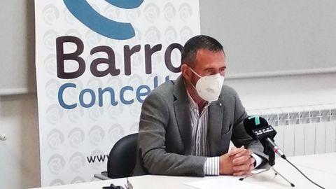 Xosé Manuel Fernández Abraldes, alcalde de Barro
