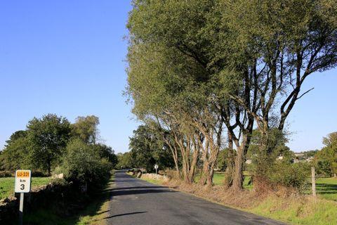 Imagen de la carretera en el tramo del municipio de Friol