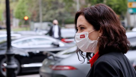 La presidenta de la Comunidad de Madrid, Isabel Díaz Ayuso, este miércoles, en un acto de campaña