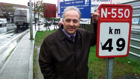 Manuel Mirás accedió a la alcaldía de Oroso por segunda vez en el 2002, año al que corresponde la imagen