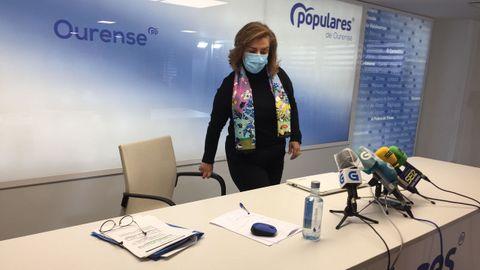 Flora Moure, portavoz municipal, fue la encargada de fijar la posición del PP ourensano