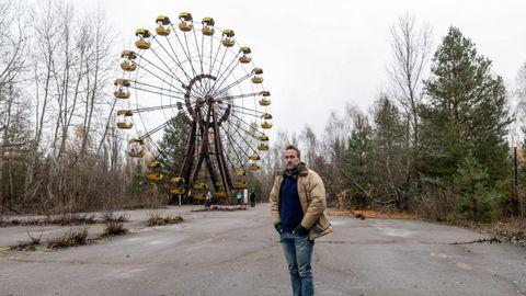 El aventurero británico Ben Fogle, en la ciudad fantasma de Pripiat (Ucrania)