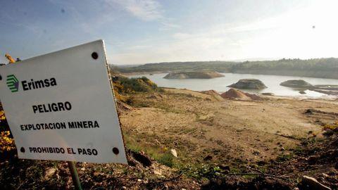 Una de las explotaciones mineras de Erimsa, en Begonte
