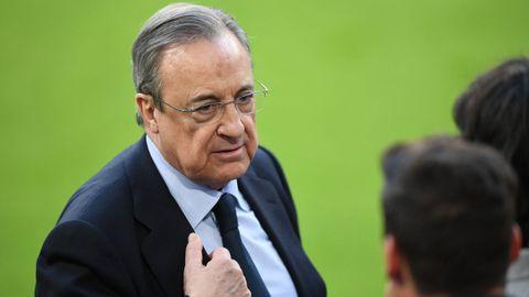 El presidente del Real Madrid, Florentino Pérez