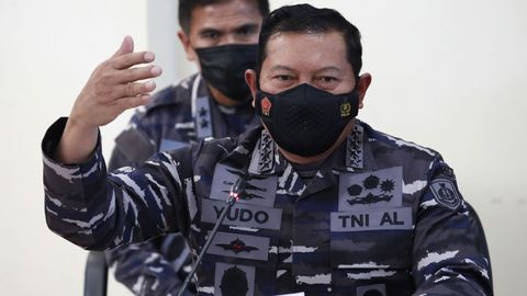 El jefe del Estado mayor de la Marina indonesia, Yudo Margono