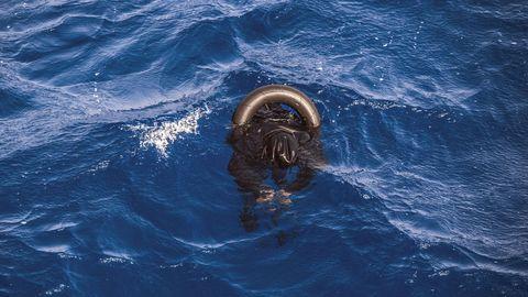 Uno de los cadáveres avistados en el Mediterráneo