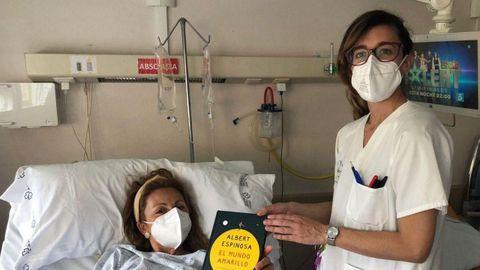 El Día del Libro también se celebró en los hospitales de la provincia. En la imagen, el CHUO