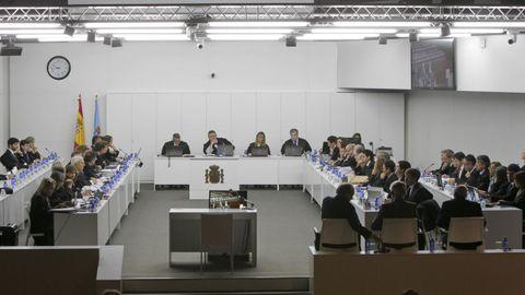 Aspecto de una sesión durante el juicio del Prestige