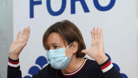 La Presidenta de Foro Asturias, Carmen Moriyón