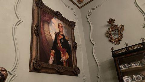 Cuadro de Franco en el interior del pazo de Meirás