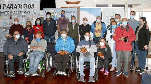 Fotografía de los participantes al finalizar la prueba