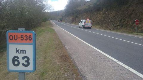 Arreglos de la Xunta en la carretera OU-536