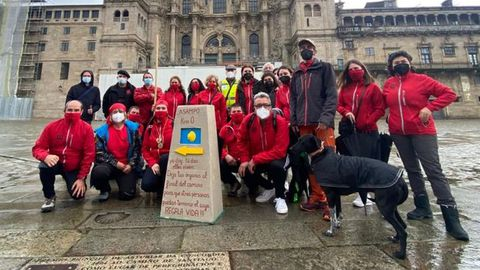 Pontevedra 2021, que de manera simbólica se celebró en Santiago, en la plaza del Obradoiro
