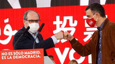 Ángel Gabilondo estuvo arropado por Pedro Sánchez en el mitin de este domingo en Getafe