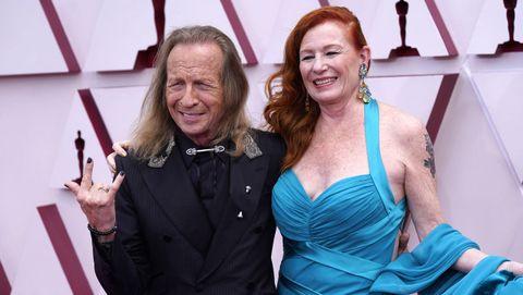 Paul Raci, nominado a Mejor actor de reparto por «Sound of Metal»,  y su mujer, Liz Hanley Raci