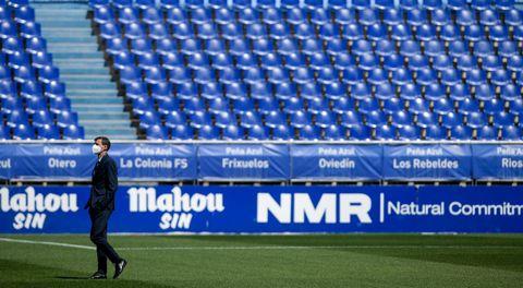 José Ángel Ziganda, antes del Oviedo-Girona