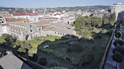 Exterior del convento de Santa Clara, en el centro de la ciudad de Pontevedra