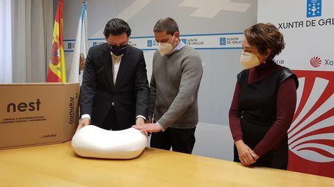 El secretario xeral de Emigración, Antonio Rodríguez Miranda, visitó la semana pasada a un emprendedor que volvió de Venezuela en el 2018