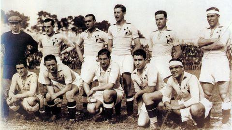 Equipo del Celta de mediados de los años 30, que acabaría logrando en el 36 el ascenso a Primera
