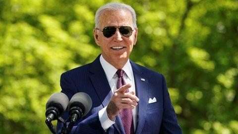 Jose Biden, en una rueda de prensa en el exterior de la Casa Blanca.