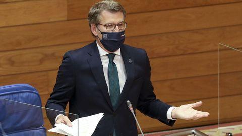 Intervención de Feijoo en el pleno del Parlamento