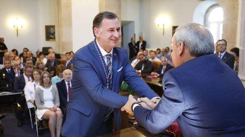 José Antonio García, de Sarria, el día de la toma de posesión como diputado de la Diputación, en julio del 2019